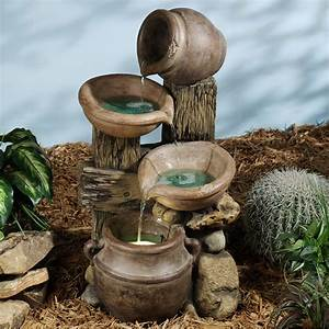 Marvelous pottery bowl indoor water fountains for country for Backyard water fountains