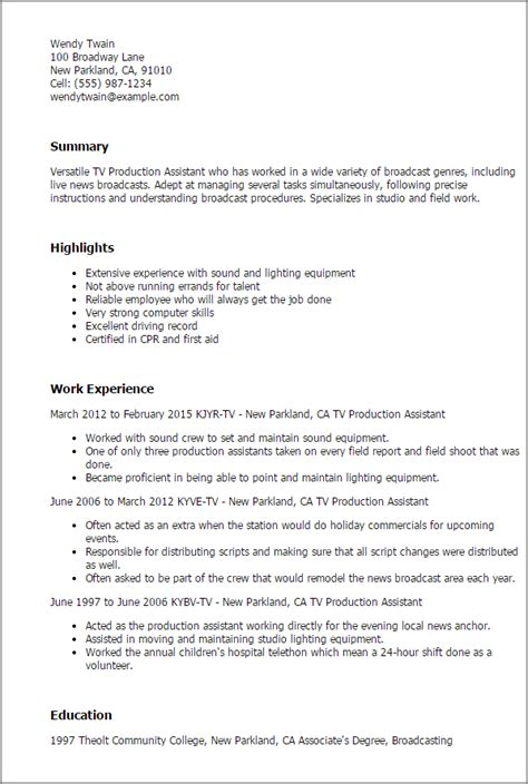finance entertainment cover letter tv production assistant resume template best design