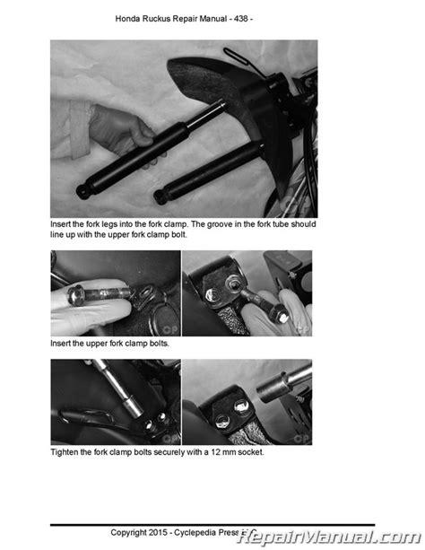 Honda Nps Ruckus Cyclepedia Printed Scooter Service Manual