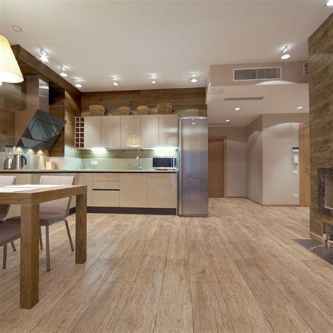 wood effect kitchen floor tiles roble wood effect tiles 15 x 90 cm modern open 1931