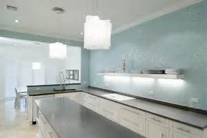 Turquoise Glass Tile Backsplash, Contemporary, kitchen