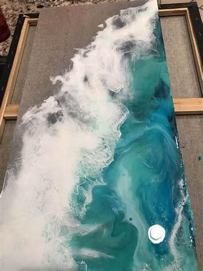 Pour Resin Acrylic Beach Epoxy Salvabrani Painting