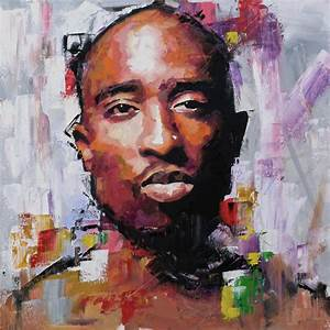 Tupac Painting by Richard Day