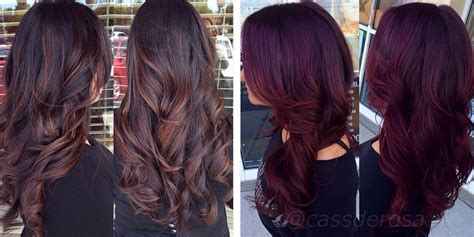 Chocolate Cherry Hair Color With Blonde Highlights