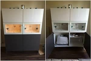 A hidden litter tray in a BESTÅ unit - IKEA Hackers