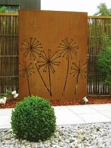 Terrassen Sichtschutz Modern : sichtschutz garten modern cortenstahl sichtschutz pusteblume nowaday garden ~ Orissabook.com Haus und Dekorationen