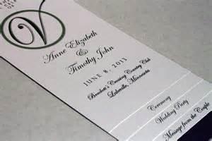 simple wedding ceremony program diy 4 page layered wedding program template circle