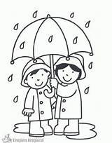 Kleurplaat Paraplu Tekenen Kls Zelf Verwijderen Laten Coloring Regen Pages Het Winter sketch template