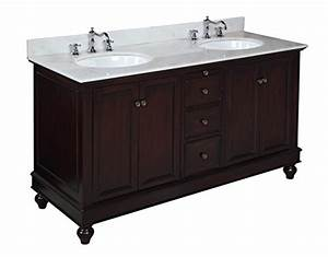bella 60 inch double bathroom vanity white chocolate With kitchen cabinets lowes with sacs papiers
