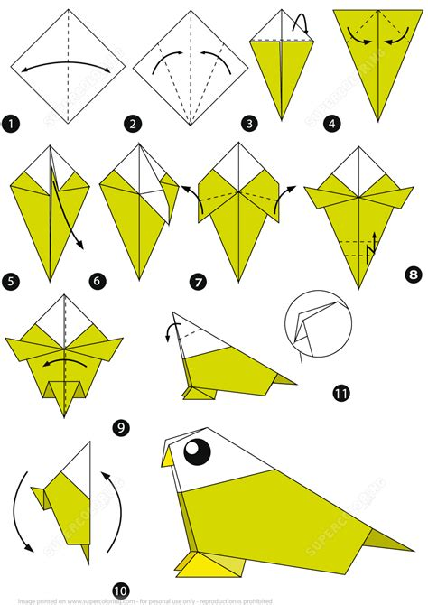 origami bird step  step instructions
