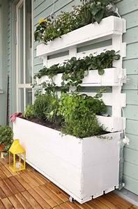 jardiniere ete idees diy accueil design et mobilier With idee de deco jardin exterieur 0 un jardin vertical en palettes joli place