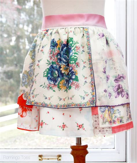 vintage handkerchief  apron pattern allfreesewingcom