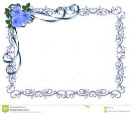 Blue Wedding Invitation Borders