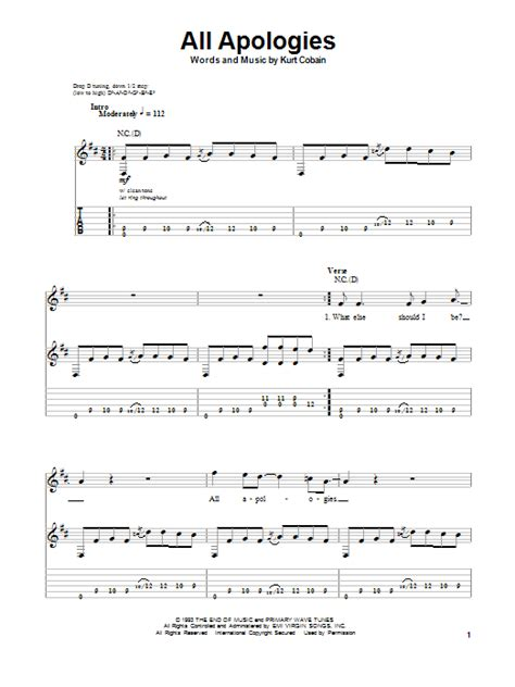 Nirvana Something In The Way Chords