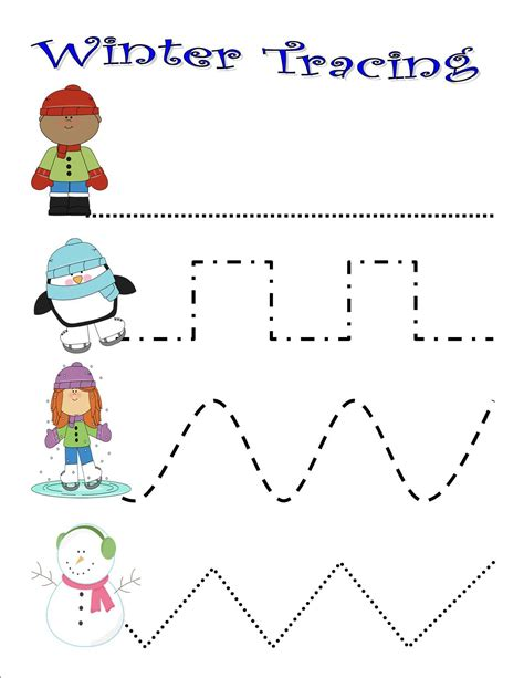 preschool winter activities and printables on the move 111 | Winter tracing
