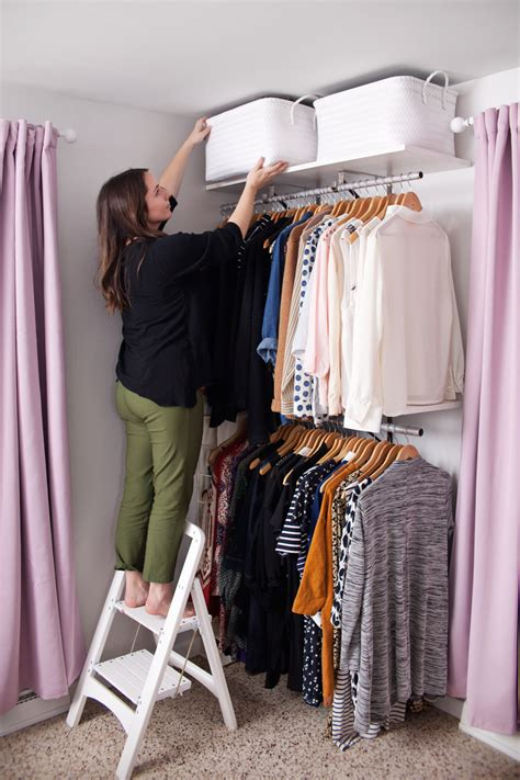 creating  open closet system  beautiful mess