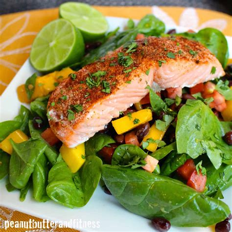 salad meal recipes chili lime salmon salad and meal prep ideas peanut butter and fitness