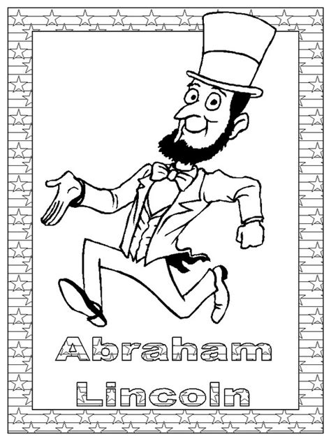 abraham lincoln coloring pages  coloring pages  kids