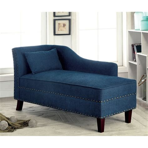 furniture of america jazlyn modern fabric chaise lounge in