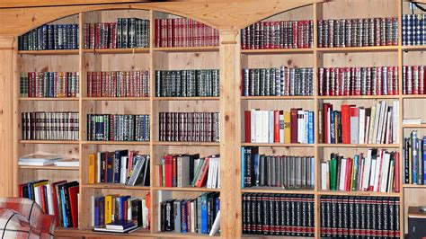 picture book wall bookcase books library room