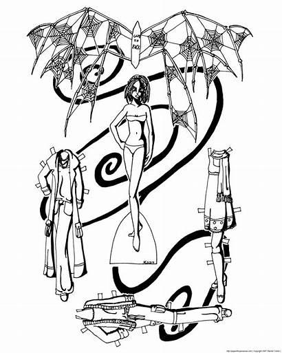 Doll Fairy Paper Gothic Coloring Bone Creepy