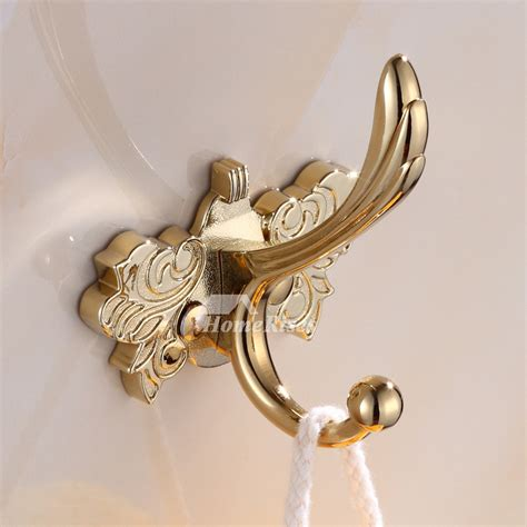 antique brass robe hook wall mount zinc alloy
