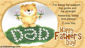 Support, Strength, Guide... Free From Daddy's Girl eCards ...