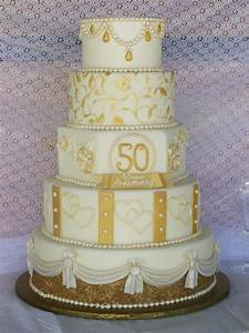 golden anniversary cake cakecentralcom With 50th wedding anniversary cake ideas