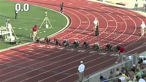 Mens 100m Dash NCAA DII 2012 Track and Field - YouTube