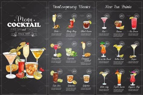 bar  lounges menu templates editable psd ai