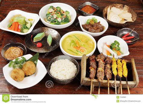 cuisine stock malaysia food stock image image of health delight calorie 7542681