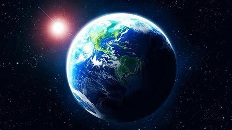 космос планета земля арт звезда свечение Hd обои для ноутбука