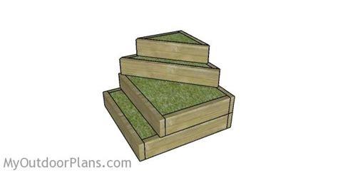 tiered garden raised bed plans myoutdoorplans