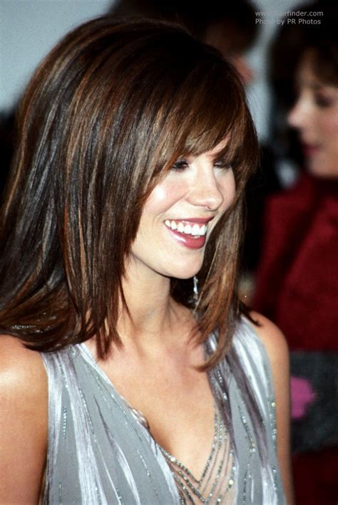 Kate Beckinsale wearing her hair long with angled sides