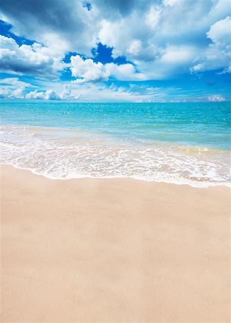anticrease washable digital cloth white cloud sea beach