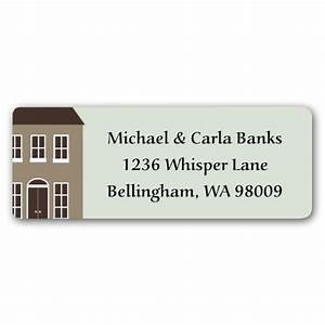 Our new home return address labels paperstyle for Home return address labels