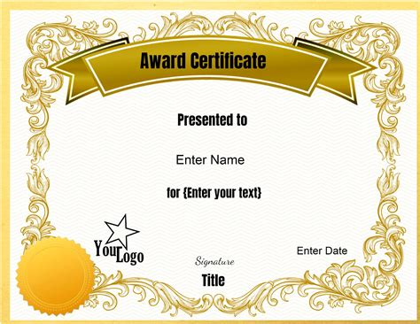 blank certificates template completion templates