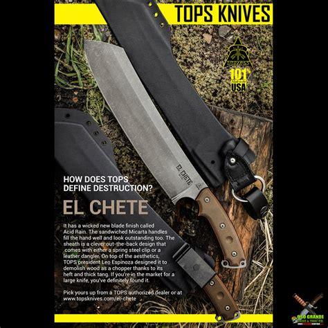 tops knives el chete knife greenblack micarta   hc acid rain tpelch