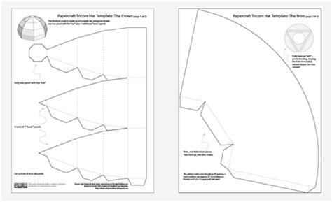Colonial Hat Template by Make Your Own Cocked Tricorn Hat Pizza By The Slice