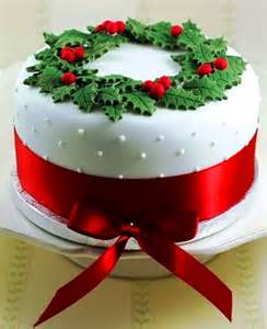 christmas cake white swiss dot fondant holly red satin ribbon tonikami ℬe meℜℜy elegant