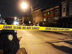 The murder scene, coroner, yellow tape surrounding – Shot Down