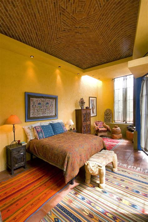 bohemian bedrooms filled  exotic decor  plenty