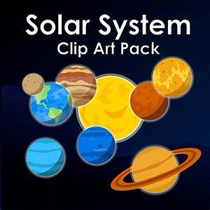 Poster clipart solar system - Pencil and in color poster ...