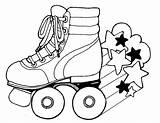Skate Roller Derby Sheets Coloring Skates Skating Printable Pom Drawing Clipart sketch template