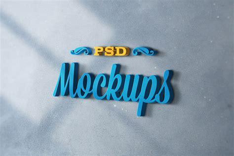 20 realistic 3d logo psd mockups