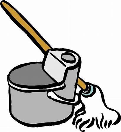 Clipart Mop Sauber Bucket Cleaning Machen Clean