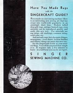 Singercraft Guide Advertisement On The Back Of The