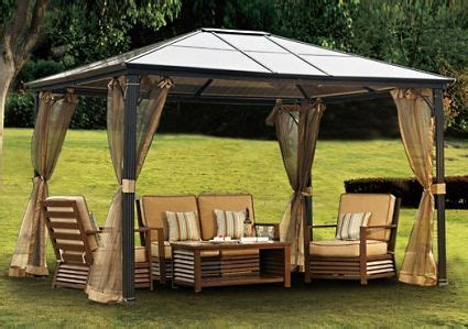 Framed Pool Canopy Cover by 10 X 12 Outdoor Hardtop Polycarbonate Roof Patio Gazebo W