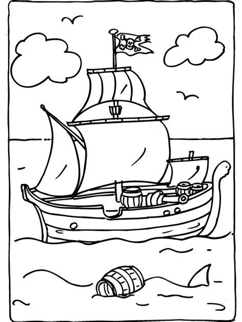 kleurplaat piratenschip kleurplatennl