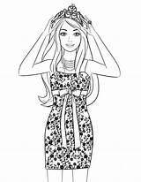 Salon Coloring Pages Beauty Hair Getdrawings sketch template